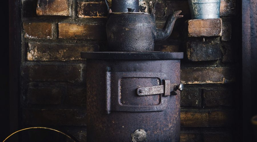 Old fashioned and traditional stove in Glasgow cellar