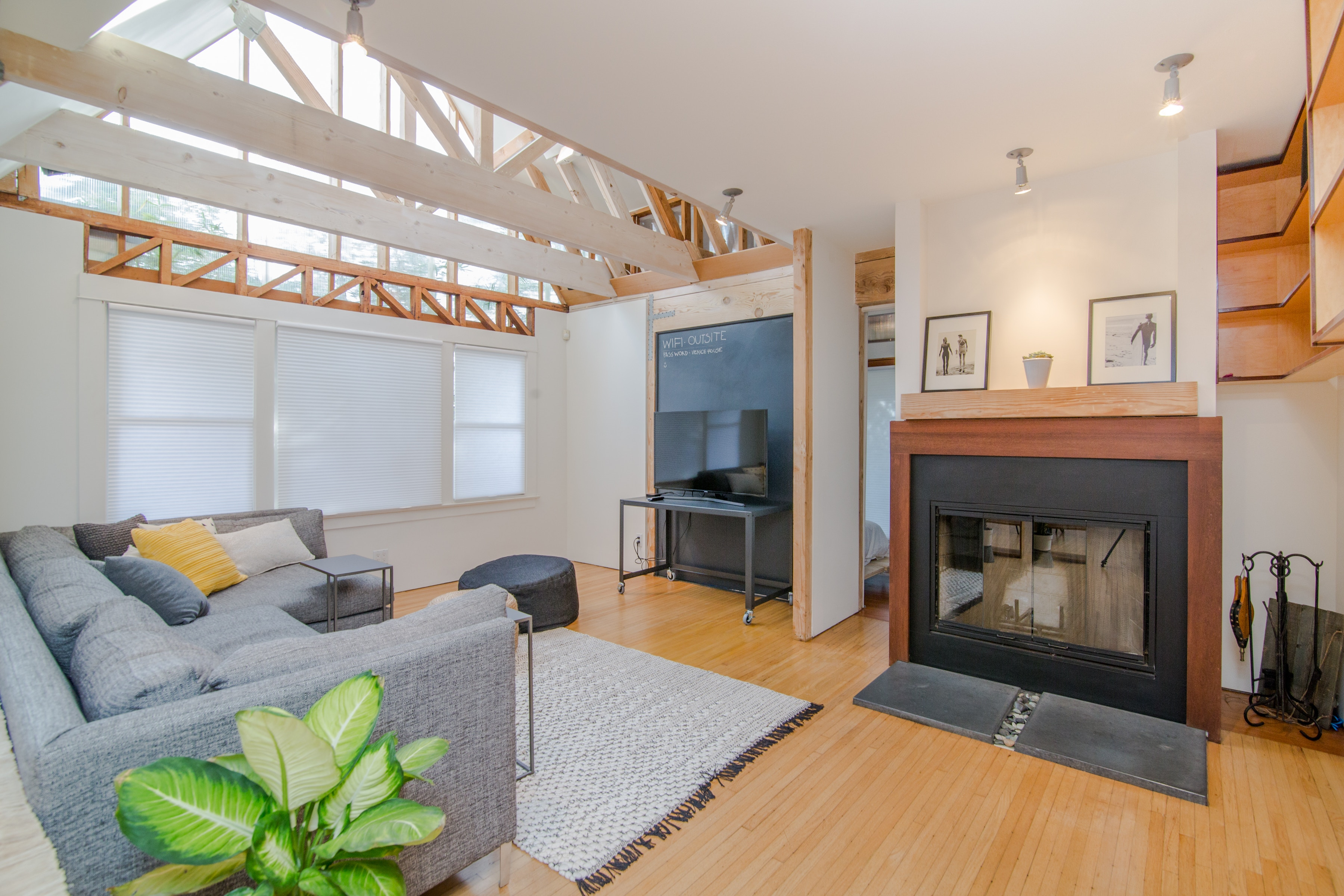 Interior of living space as designed by home improvement contractor